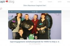 Tapir Blog Beitrag