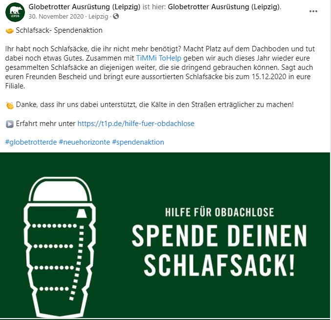 Globetrotter Leipzig Sammelaktion für TiMMi